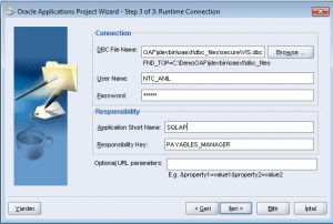 Kullanıcı, parola, sorumluluk anahtarı, uygulama yazılımı ve DBC dosya seçimi